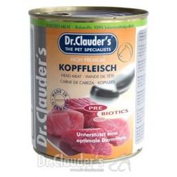 Dr.Clauder Selected Meat Kopffleisch Pre Biotics 800 гр. - Месо от глави. Пълноценна храна за подрастващи кучета.
