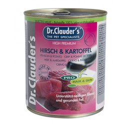 Dr.Clauder Selected Meat Pro Hair Skin Hirsch Kartoffel 400гр. - елен и картофи за кученца с проблемна кожа и козина