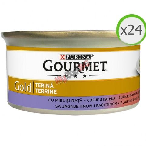 PURINA® GOURMET® Gold 24х85гр. Котки в зряла възраст,Хапки в Пастет,Агне и Патица, Мокра храна, Консерва,