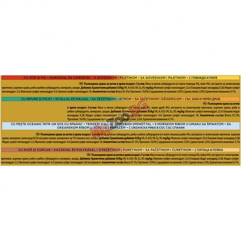 PURINA® GOURMET® Gold 12бр-4х 85гр. за котки в зряла възраст, Двойно удоволствие, Асортимент, Мокра храна, Картонена кутия,