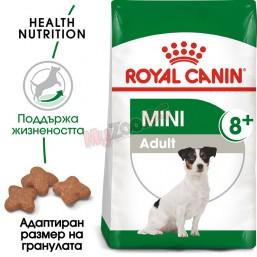 Royal Canin    Mini Adult 8+ 2кг. Пълноценна храна за кучета в зряла възраст от дребни породи (до 10кг.) - Над 8-годишна възраст.
