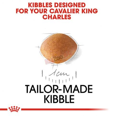 Royal Canin Cavalier King Charles PUPPY 1.5кг Пълноценна суха храна за подрастващи кавалер кинг чарлз шпаньоли от 2- до 8-месечна възраст
