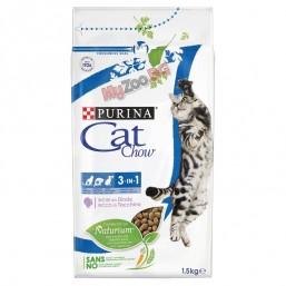 Cat Chow Special Care 3in1 1.5кг. - пълноценна храна против зъбен камък, образуване космени топки и за здрав уринарен тракт