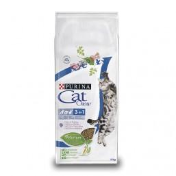 Cat Chow Special Care 3in1 15кг. - пълноценна храна против зъбен камък, образуване космени топки и за здрав уринарен тракт