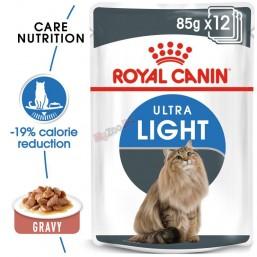 Royal Canin  Ultra Light Gravy 12*85гр. Пълноценна храна за котки в зряла възраст (парченца в сос).