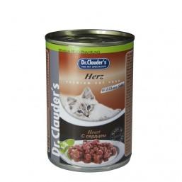 Dr.Clauder Premium 415гр. - с месо от пилешки сърца