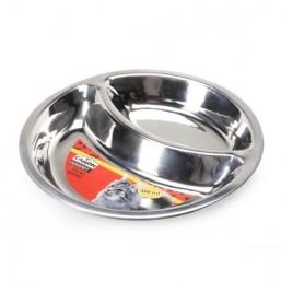 Двойна купа метална за котки- 240мл