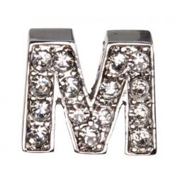 Декоративна буква с брилянти -M