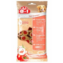 8in1 Minis – лакомство за кучета с риба и домати 100 гр.