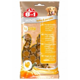 8in1 Minis – лакомство за кучета с пуешко месо и тиква 100 гр.