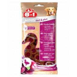 8in1 Minis – лакомство за кучета с патешко месо и сливи 100 гр.