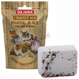 DAJANA Country mix Mineral block FRUIT, плодов минерален камък - 55 гр