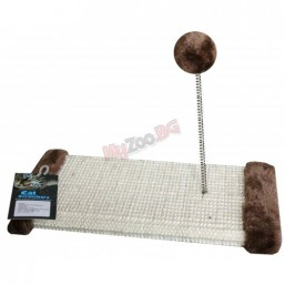 Драскалка - дъска с топче на пружина, бежова 30х15х15 см