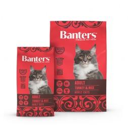 BANTERS Adult Cats Turkey & Rice 2 кг. Пиле и ориз Пробиотици FOS & MOS  Омега 3 и Омега 6 Животински протеин 30.5% и мазнини: 15%