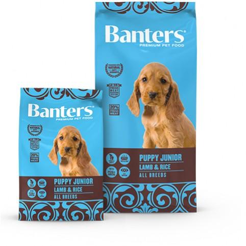 BANTERS/OPTIMA Puppy Junior Lamb & Rice All Breeds 3 кг. Агне  и ориз Пробиотици FOS & MOS  Омега 3 и Омега 6 Животински протеин: 30% и мазнини: 18%