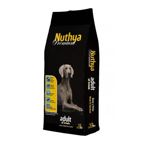 NUTHYA PREMIUM ADULT 12 кг. Премуим храна за кучета Протеин: 28% Мазнини: 14%