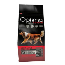OPTIMA NOVA ADULT ACTIVE CHICKEN&RICE 12 кг.65% месо / пиле и ориз / Суперпремуим храна за кучета хипоалергична GMO FREE