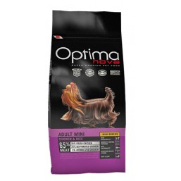 OPTIMA NOVA ADULT MINI CHICKEN & RICE 12 кг. 65% месо / пиле и ориз / Суперпремуим храна за кучета хипоалергична GMO FREE